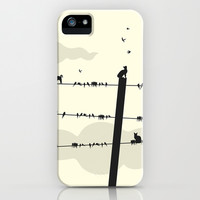 Cats and Birds iPhone & iPod Case by Paula Belle Flores