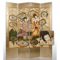 Screen Gems Hand Painted Harmony Garden Room Divider - SG-30 - Room Dividers - Decor