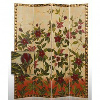 Screen Gems Hand Painted Floral Room Divider - SG-23 - Room Dividers - Decor