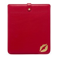Red Lip Blot Leather iPad Sleeve | Totes | Handbags | Lulu Guinness