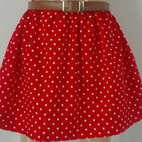 Spots and Stripes Red and White Polka Dot Skirt