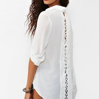Laced Tail Blouse - White in  Clothes at Nasty Gal