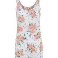 New Look Mobile | White and Peach Floral Vest