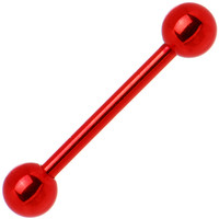 Red Electro Titanium Barbell Tongue Ring | Body Candy Body Jewelry