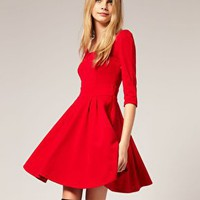 ASOS | ASOS Tailored Scoop Back Ponti Fit and Flare Dress at ASOS