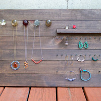 $90.00 Reclaimed Wood Jewelry Organizer Large by RusticWoodOriginals
