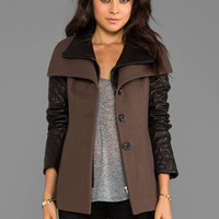 Soia & Kyo Vero Wool Coat in Taupe