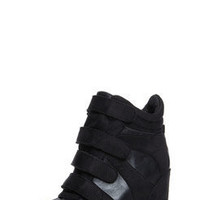Jasmine Black Suedette Hi Top Wedge at boohoo.com