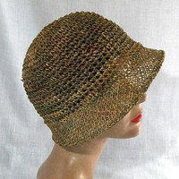 Barbara Feinman Millinery- crocheted classic cloche