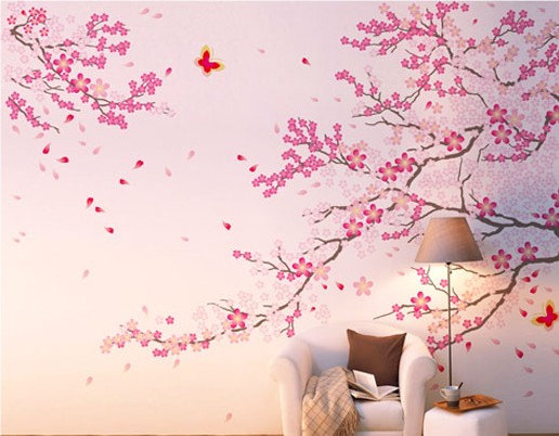 Vinyl Cherry Blossom Wall Decal Tree Wall from ...