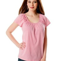 Motherhood Maternity: Short Sleeve Pull Down Nursing Tee