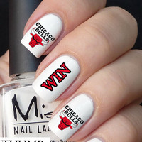 Chicago Bulls Basketball Nail Decals