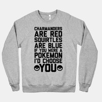 Charmanders Are Red Squirtles Are Blue