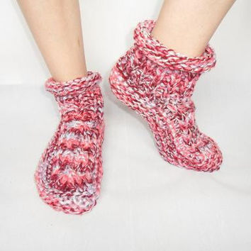 Knitting Pattern For Socks In Chunky Wool : Slipper Socks 4 styles knitting pattern from Laineknits on Etsy