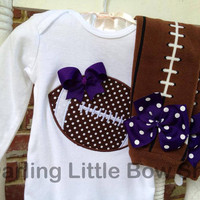 Baby Girl Football oufit  Football by DarlingLittleBowShop on Etsy
