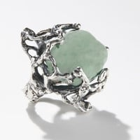 MANIAMANIA ? IMMORTALS Ring (Silver/Aquamarine)