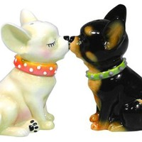 Westland Giftware Mwah Magnetic Chihuahuas Salt & Pepper Shaker Set 3-1/2