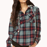 Rustic Hooded Plaid Flannel