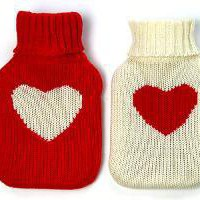 Heart Warmer Hot Water Bottle - White: The Spoon Sisters