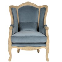 Heloise Chair - Light Blue - Armchairs - Seating