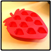Ice Cube Tray Strawberry