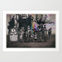 Ms. Nebun's Academic Spook Class Photo Art Print by Ben Geiger