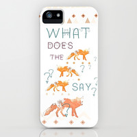 FOX by Monika Strigel and NIKA iPhone & iPod Case by Nika