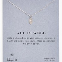 Dogeared 'Reminder - All is Well' Boxed Hamsa Pendant Necklace
