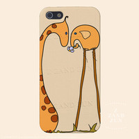 iphone 5 case iphone 5s Case - Giraffe and his Soulmate Iphone Case Iphone 4s case Iphone 4 case
