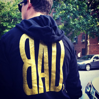 BAD NYC Black and Gold Limited Edition Unisex Hoodie - Bad Kids Clothing   Bad Kids Clothing