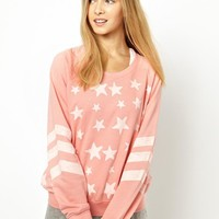 Chelsea Peers Stars and Stripes Fleece Back Sweat Jumper