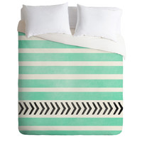 DENY Designs Home Accessories | Allyson Johnson Mint Stripes And Arrows Duvet Cover