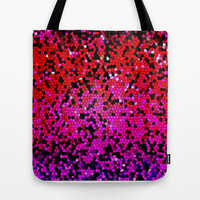 STAINED GLASS PINKS Tote Bag by catspaws