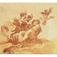 Saint Joseph Adoring the Christ Child (Pen, Ink, Brush and Wash over Traces of Chalk on Paper) Giclee Print by Giovanni Lorenzo Bernini at Art.com