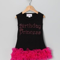Birthday Princess Rhinestone Ruffle Dress - Available in Infant, Toddler & Girls - Whimsical & Unique Gift Ideas for the Coolest Gift Givers