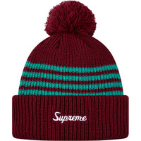 Supreme: 4-Stripe Loose Gauge Beanie - Burgundy