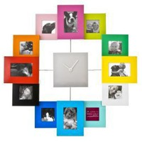 Present Time Photo Frame Clock Family Time