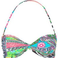 FULL TILT Mixed Media Bikini Top