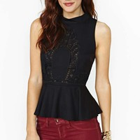 Victoria Lace Peplum Top