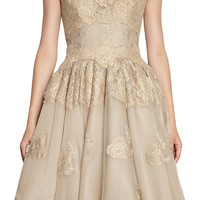 Dolce & Gabbana Lace Trim Flare Dress at Barneys.com