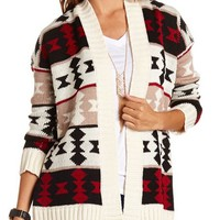 Colorful Aztec Knit Cardigan: Charlotte Russe