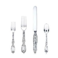 Tiffany & Co. | Item | Chrysanthemum place setting. Sterling silver. | United States