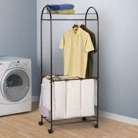 Household Essentials Laundry Centre in Antique Bronze - 7074 - Hampers - Bed &amp; Bath