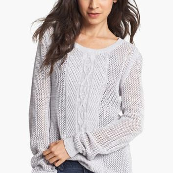 Rubbish® Cable Knit Sweater (Juniors) | Nordstrom