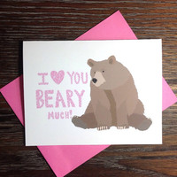 I Love You Bear Greeting Card