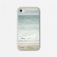 IPhone 4 Case, IPhone 4 Cover - Custom IPhone Case, Water, Ocean, Pastel Blue, Aqua, Nautical, Shore | Luulla