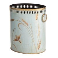 Wheat Tole Wastebasket
