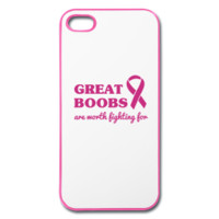 Great boobs are worth fighting for iPhone Case