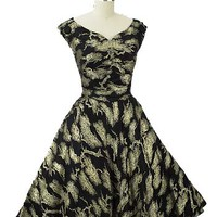 50s Party Dresses-1950s Vintage Brocade Dress