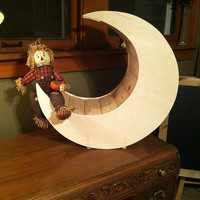 Unpainted Moon Photo Prop for Newborns
